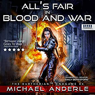 All's Fair in Blood and War     The Kurtherian Endgame, Book 4              By:                                                                                                                                 Michael Anderle                               Narrated by:                                                                                                                                 Emily Beresford                      Length: 7 hrs and 35 mins     3 ratings     Overall 4.7