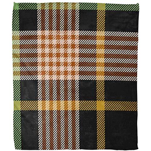 Throw Blanket Plaid Brown Fantasia Schottenruit goud groen Schotse karton zakdoek zwart Britjaans hotel pile deken Tiro zacht warm slaapdeken voor kantoor bank 102