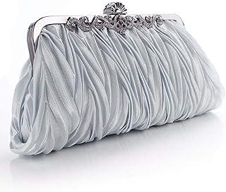 Umhängetasche Damen Clutch Mode Dame Party Hochzeit Handtasche Geldbörse Mädchen Weiche Abendtasche Braut Frauen Satin Kri...