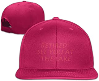 YL&GF Funny Retirement See You At The LakeCLASSIC Men Women Baseball Adjustable Cap Fitted Hats Natural