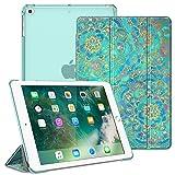 Fintie Hülle für iPad 9.7 Zoll 2018 2017 / iPad Air 2 (2014) / iPad Air (2013) - Ultradünn Schutzhülle mit transparenter Rückseite Abdeckung Cover mit Auto Schlaf/Wach Funktion, Jade