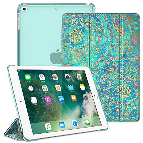 Fintie Hülle für iPad 9.7 Zoll 2018 2017 / iPad Air 2 (2014) / iPad Air (2013) - Superdünn Schutzhülle mit durchsichtiger Rückseite Abdeckung Cover mit Auto Schlaf/Wach Funktion, Jade