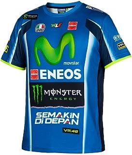 Camiseta Rossi Yamaha Sports tejido dry-fit logos de colores impresos Rossi Yamaha Factory Racing Movistar Moto-GP oficial tiempo libre L