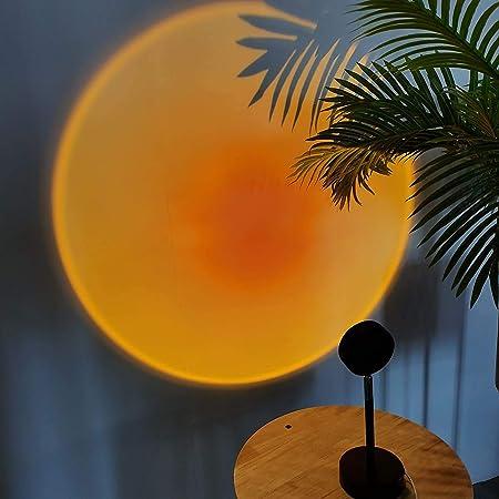 Regenbogen Sunset Projection Lamp 180 Grad Drehung Gef/ührt Regenbogen Sonnenuntergang Projection Stehlampe Romantisches Visuelles Stimmungslicht F/ür Wohnzimmer Schlafzimmer Dekor Projector Gift