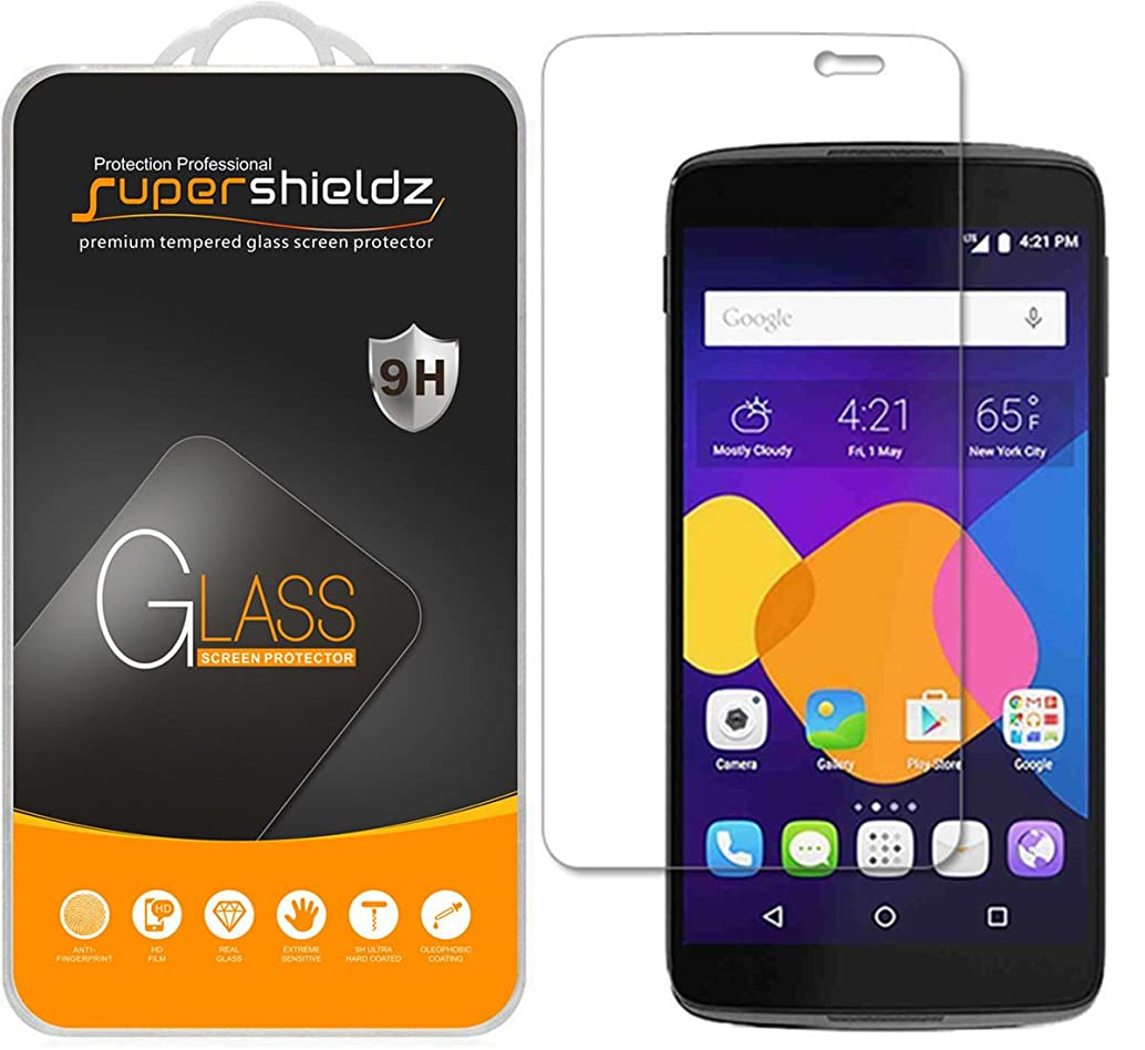 [2-Pack] Supershieldz for Alcatel OneTouch Idol 3 (5.5 inch) Tempered Glass Screen Protector, Anti-Scratch, Anti-Fingerprint, Bubble Free, Lifetime Replacement
