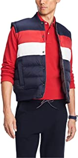 Mens Jacket Red Small Reversible Puffer Vest