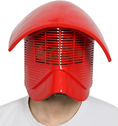 DealTrade Elite Guard Helm Cosplay Kostüm Halloween Erwachsene Rot Harz Vollkopf Maske Replik Fancy Dress Costume Merchandise