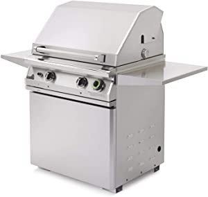 Pgs T-series Commercial 30-inch Freestanding Natural Gas Grill On Pedestal With Timer - S27tng