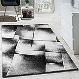 Paco Home Designer Teppich Modern Wohnzimmer Teppiche Kurzflor Meliert Grau Creme Schwarz, Grösse:60x100 cm