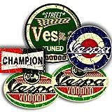 Vespa Mod-Aufkleber, 4 Stück, plus gratis Champions-Aufkleber