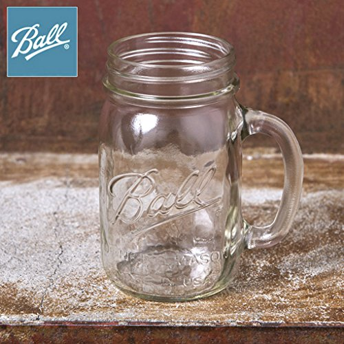 Made In USA 【Ball】ボール Drinking Mug ドリンキング マグ Mason Jar メイソンジャー ハンドル付き 取って 16oz 480ml Clear クリアー正規品
