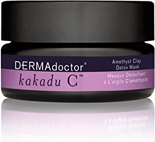 DERMAdoctor Kakadu C Amethyst Clay Detox Mask for Women - 1.69 oz, 276.69 g