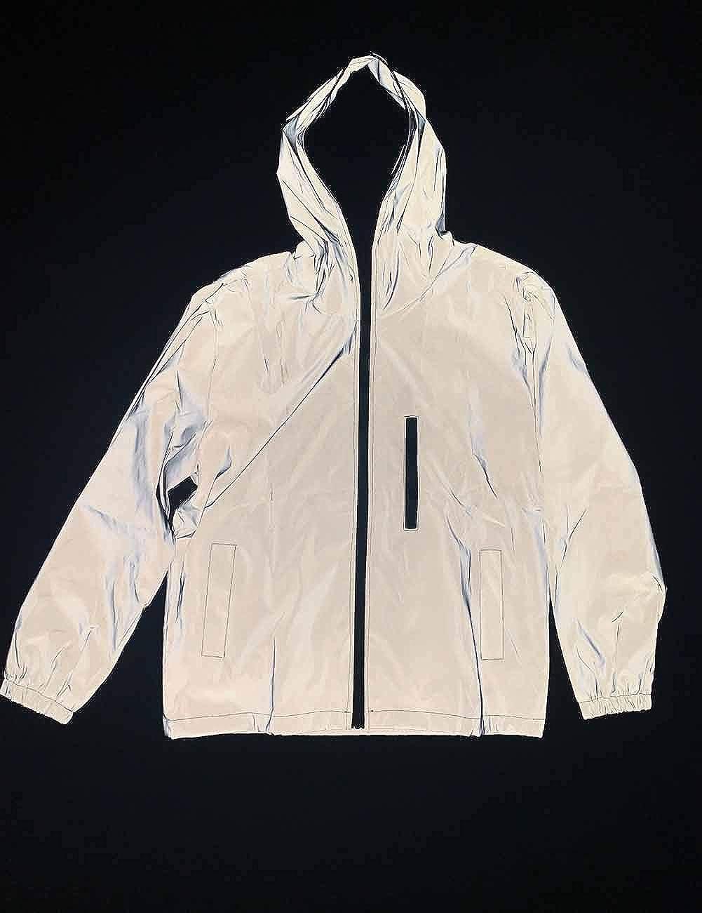 Mens 3M Super Bright Reflective Jacket Coat