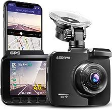 Cámara de Coche 4K 2160P con WIFI y GPS Dashcam Grabadora Ultra HD Dash Cam de Gran Ángulo 170° con G-sensor,Modo de Estac...