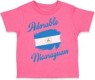 Custom Toddler T-Shirt Adorable Nicaraguan Nicaragua Cotton Boy & Girl Clothes