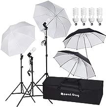 MOUNTDOG 800W Photography Umbrella Continuous Lighting Kit Photo Portrait Studio Day Light Umbrella Reflector Lights for Camera Shooting