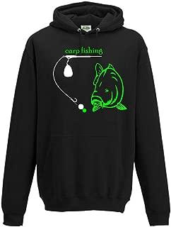 Carpe pêche carpe pêcher Angler Capuchon pêche Basecap chapeau carpes t-shirt 17