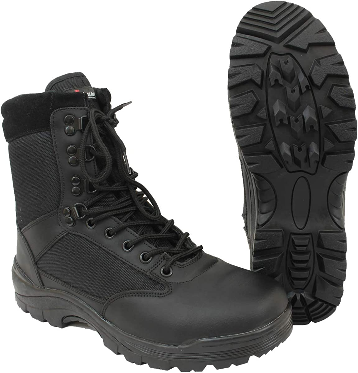 Mil-Tec Dual Zipped Black Tactical Washington Mall Boots Size 10 US It is very popular