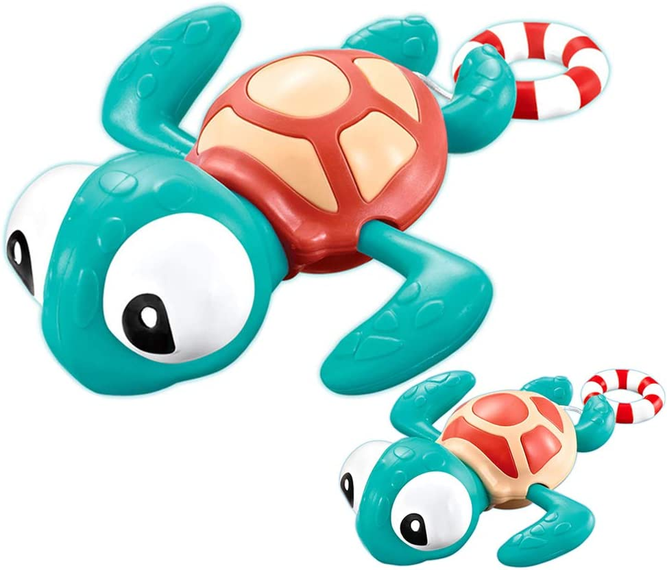 VCOSTORE Cheap Pull Max 58% OFF Go Turtle Bath Toy Cute Ba Wind Swimming Baby Up