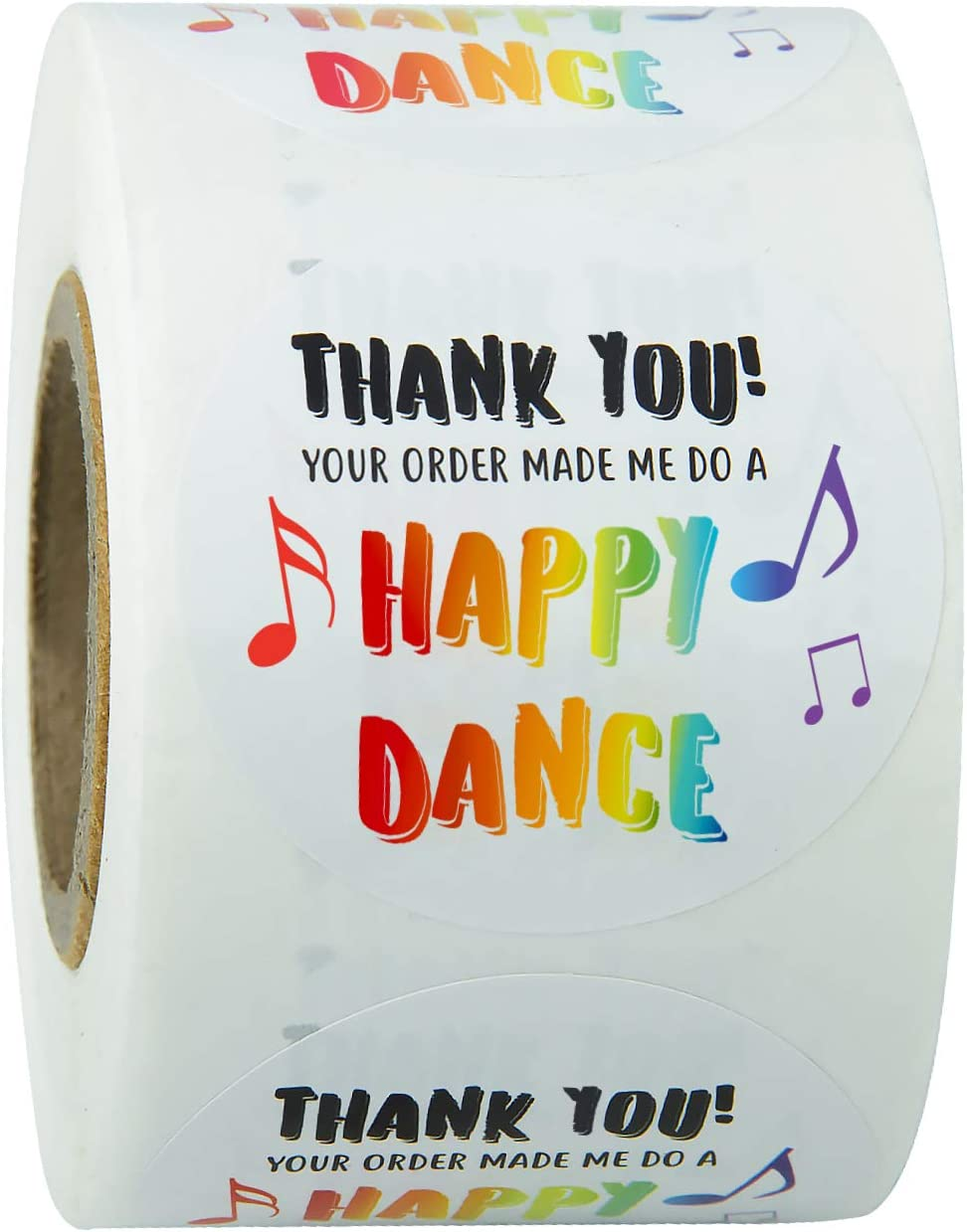 WRAPAHOLIC Thank You Business Stickers - Thank You Your Order Made Me Do A Happy Dance Business Stickers, Shipping Stickers - 2 x 2 Inch 500 Total Labels