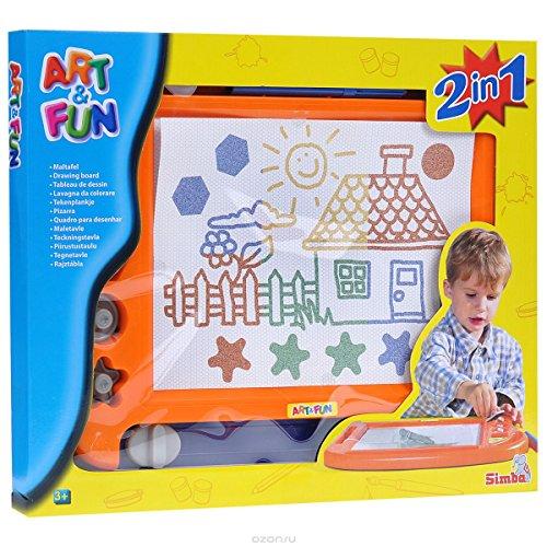 Art & Fun 6333863 - 2 Farb-Maltafeln 2-sor.