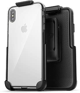 Encased Clear Back Case w/ Belt Clip Holster - Designed for iPhone XS Max (2018)
