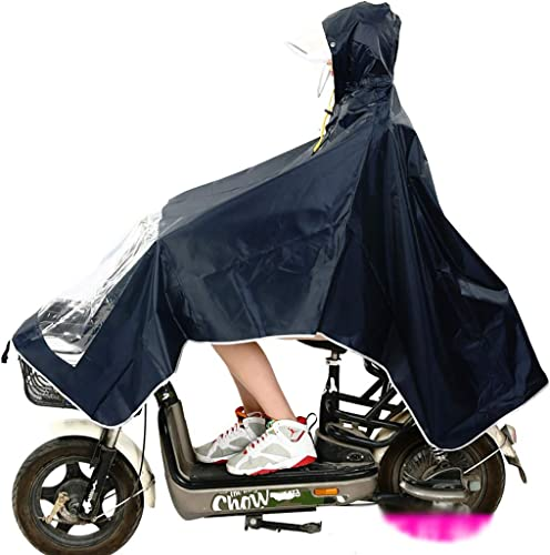 Hyuyi Un Masque imperméable pour AugHommester l'épaississeHommest du Poncho Moto pour Hommes et Femmes en Tissu Oxford (Couleur   B)