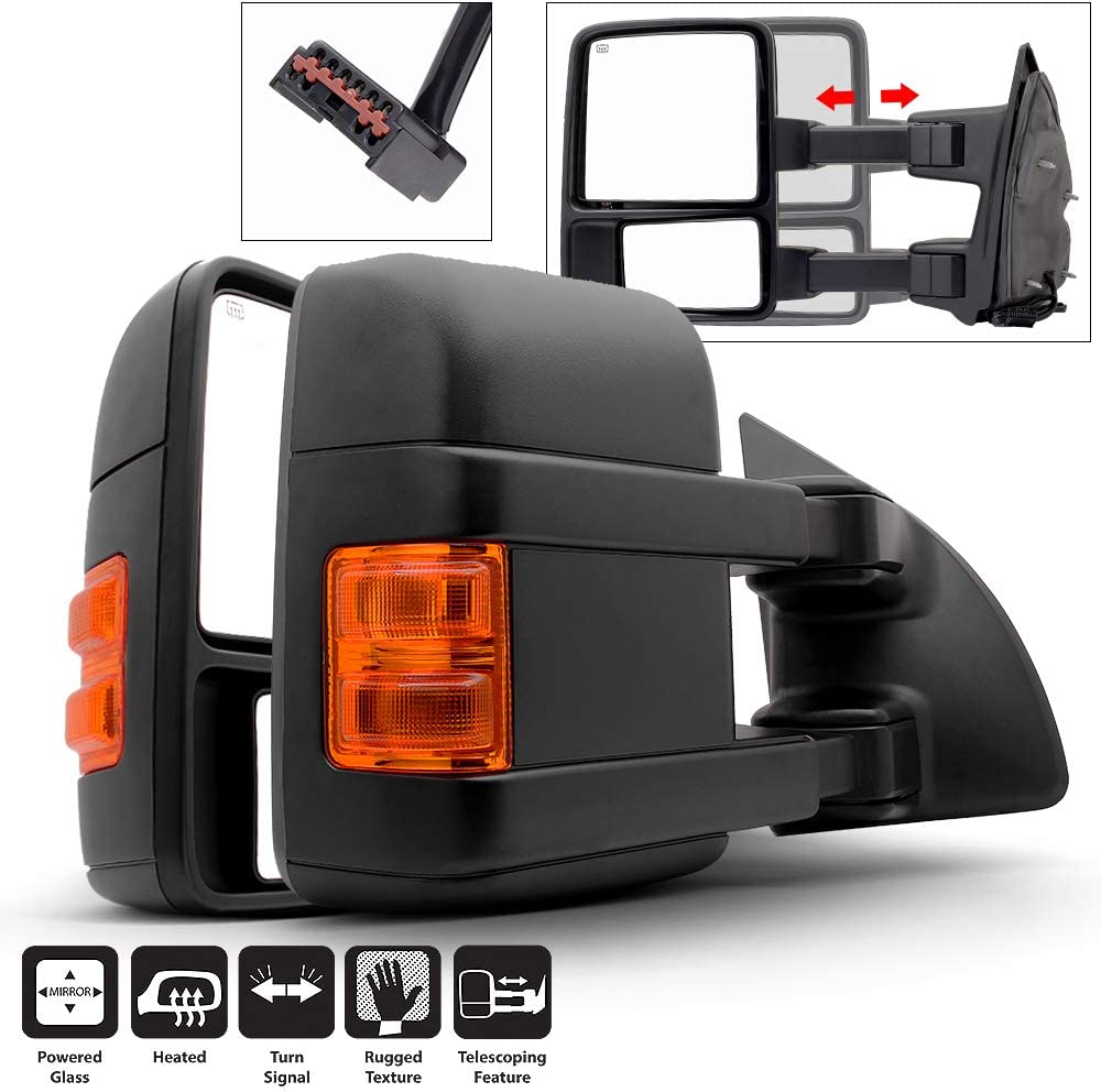 Acanii Max 49% OFF - Telescoping New Shipping Free Shipping Power Heat LED Signal Side Mirrors L Towing