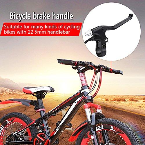 Fahrrad Bremshebel mit 1,5m Draht Aluminiumlegierung E-Bike Bremshebel für Fahrrad mit 22,5mm Lenker - 3