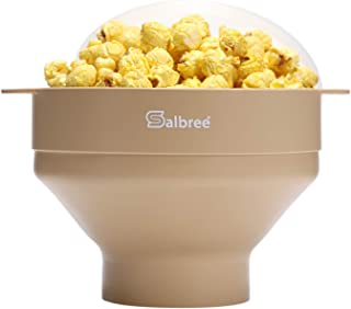 Original Salbree Microwave Popcorn Popper, Silicone Popcorn Maker, Collapsible Bowl - The Most Colors Available (Tan)