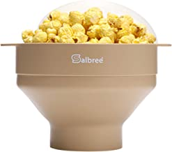 Original Salbree Microwave Popcorn Popper, Silicone Popcorn Maker, Collapsible Bowl BPA Free - 20+ Colors Available (Tan)