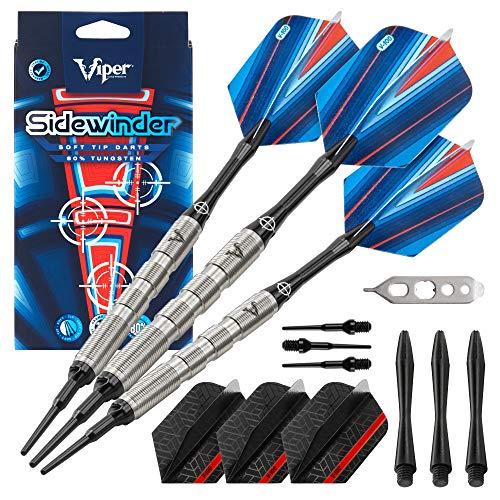 Viper Sidewinder 80% Tungsten Soft Tip Darts, Fine Knurling, 18 Grams
