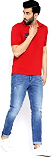 Red Polo T-Shirt For Men by Pure Play   Large   Strong, Fashionable, Comfortable, Cotton   Regular Fit   FREE REPLACEMENT