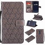 pinlu® Coque pour LG V10 Haute Qualité Rétro PU Cuir Flip Wallet Etui Stent Function avec Credit...