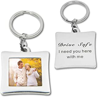 Photo Keychain Picture Frames Keyring Gift for Husband Dad Boyfriend Grandpa Father's day Birthday Gift