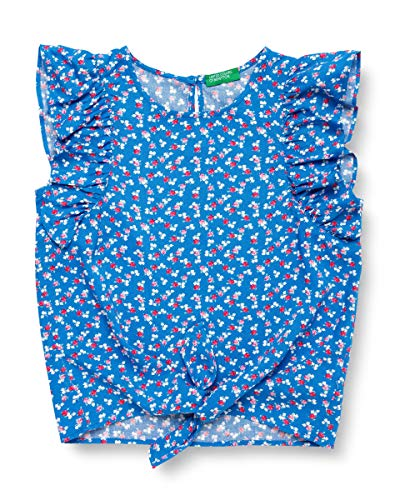 United Colors of Benetton Baby-Mädchen Camicia S/m Bluse, Türkis (Lapis 69r), 80/86 (Herstellergröße: 1y)