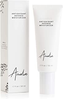 Antioxidant Defense Moisturizer. Natural Face Moisturizer with Renewing Green Tea, Age- Defying Resveratrol and Brightening Vitamin C. All Skin Types