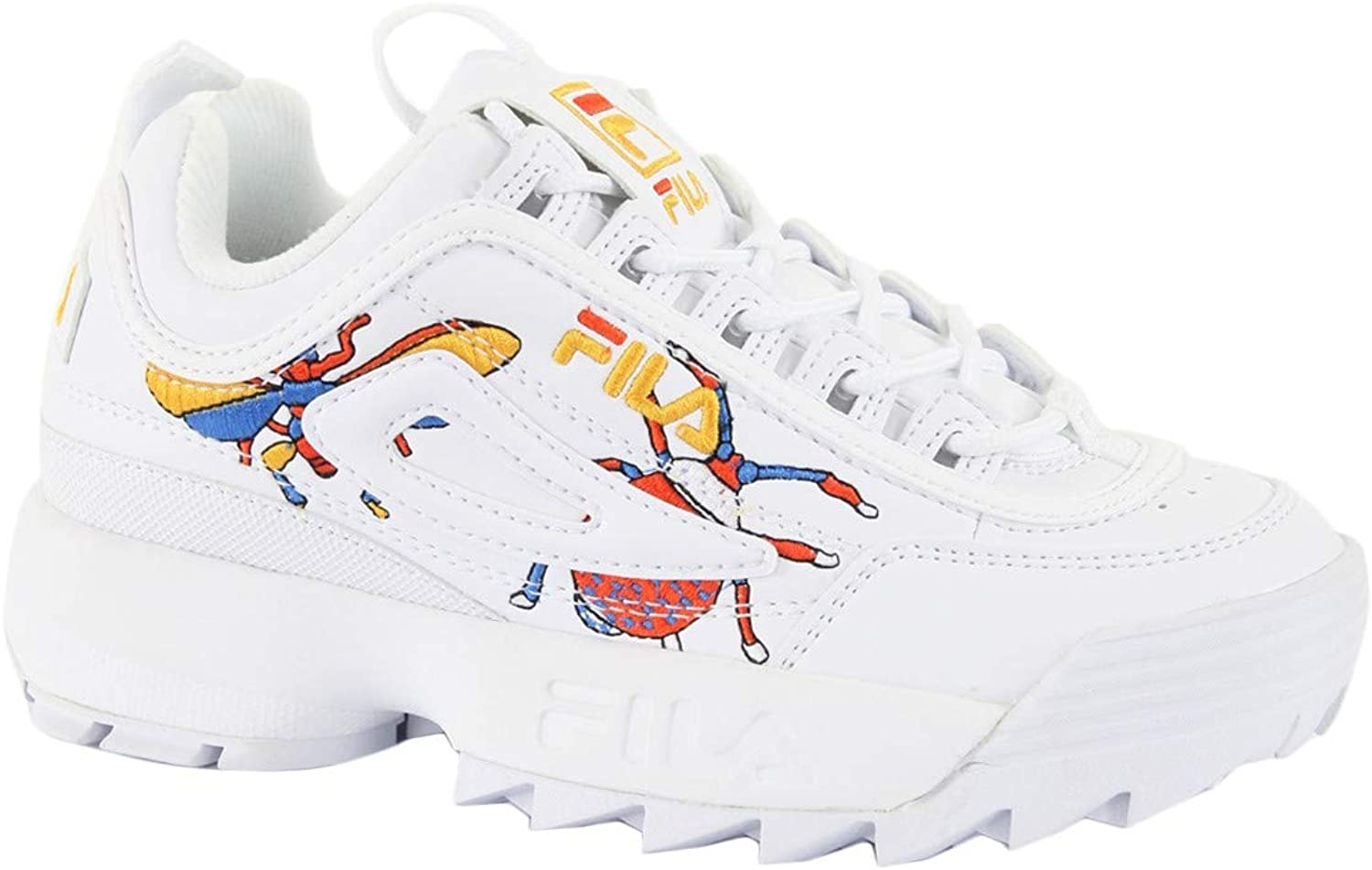 Fila Women's shoes Low Sneakers 1010609.90A Disruptor CALABRONE Low WMN Size 39 Bianco Multi