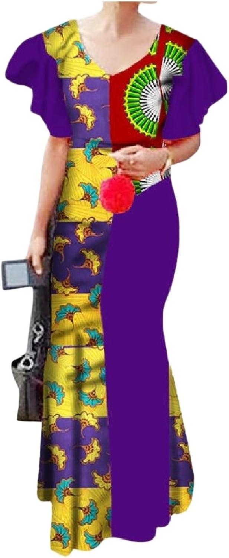 Zago Women's Stylish Cotton African Dashiki Evening Party Dress
