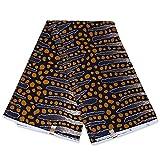 Afrikanischer Stoff, schwarz, Senf, Bogolanische Streifen,