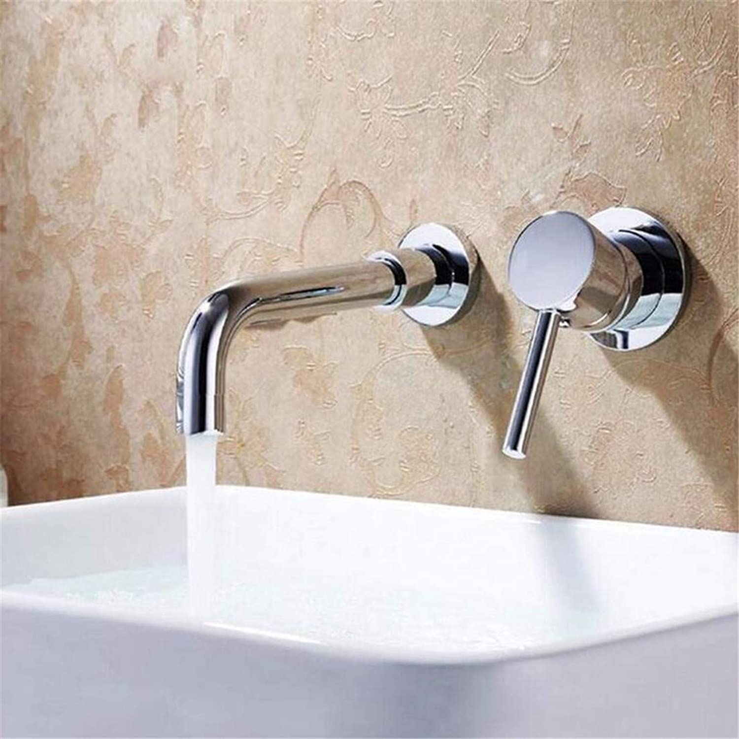 Modern Hot and Cold Vintage Platingfaucets Basin Mixer All The Copper Hot and Cold Into The Wall Dark Mounted Basin Faucet