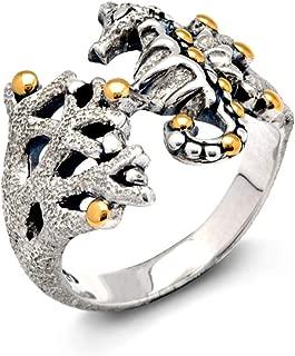 gold seahorse ring