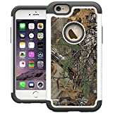 UrSpeedtekLive iPhone 6 Case, 6s Case, iPhone 6s Cases [Shock Absorption] Dual Layer Heavy Duty Protective Silicone Plastic Cover Case for iPhone 6/6s - Camo Tree