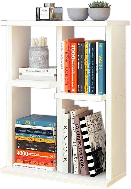 JCAFA Shelves Bookshelf Floor Stand Bedroom Study Desk Storage Rack Storage Cube Shelf Bookcase, 3 Styles (color   White, Size   15.74  6.69in24.8in)