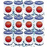 KHDFID Bestway - Filtro de piscina para Bestway tamaño 2, filtro de piscina para Bestway 58383, bombas de filtro tipo II de repuesto para Bestway tipo II, para filtros Bestway tipo II (12 unidades)