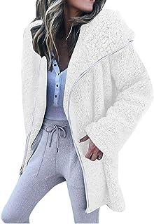 Abrigo con Capucha de Lana Gruesa, para Mujer, Invierno, cálido, cálido, Chaleco Polar Oversize