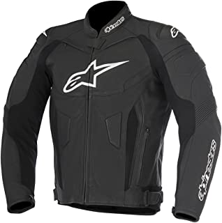 Alpinestars Men's GP Plus R V2 Air Flow Leather Motorcycle Riding Jacket (Black, 60)