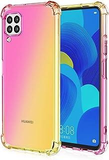 TANYO Funda Adecuado para Huawei P40 Lite, [Reforzar la versión con Cuatro Esquinas] Fundas Gradiente Transparente TPU, Ul...