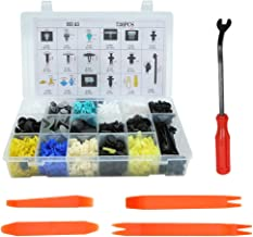 uxcell 730pcs Plastic Clips Push Pin Rivets Fasteners Set Car Bumper Fender Retainer Trim Panel Screws Kit w Removal Tool Cable Ties
