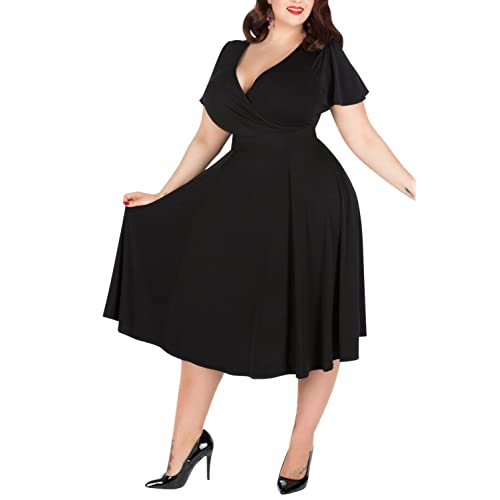 Retro Dress Plus Size: Amazon.com